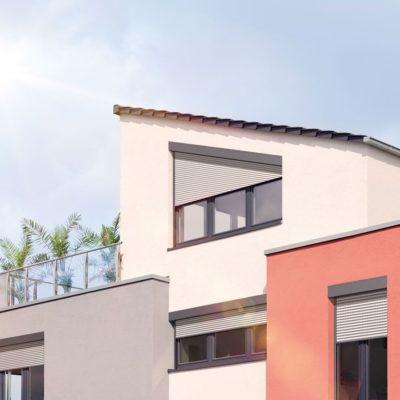 Schräge Rollladen für Dachfenster